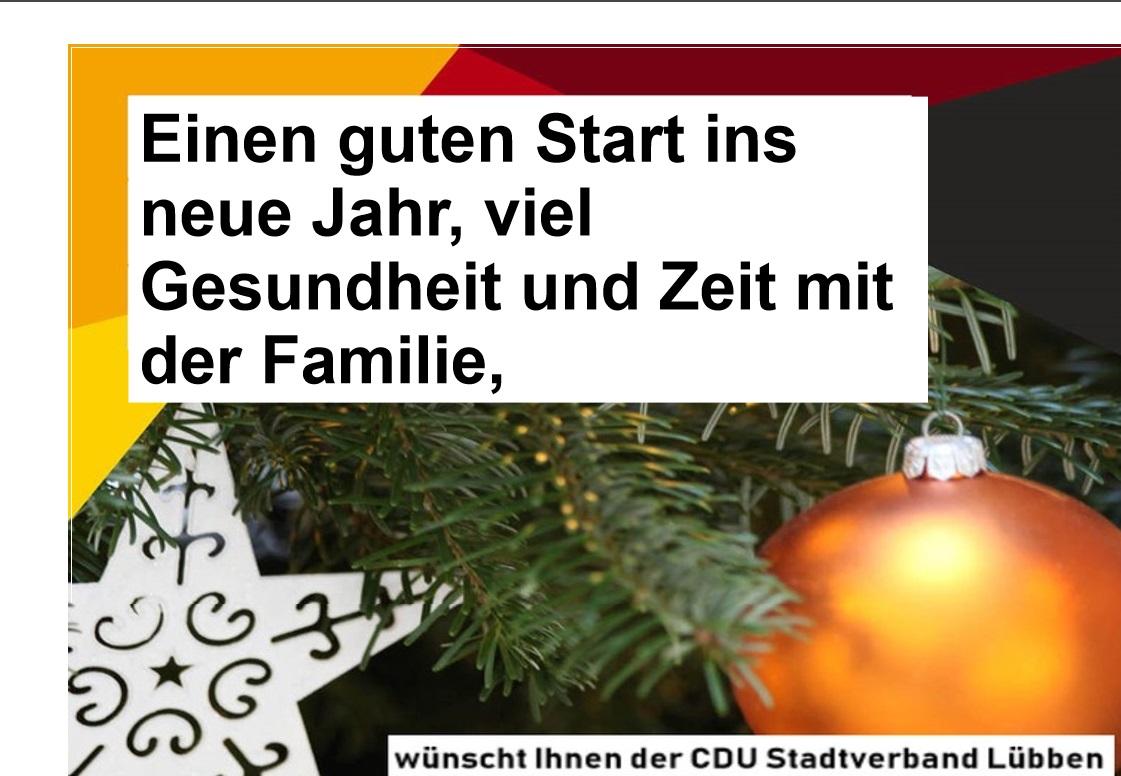CDU Stadtverband Lübben (Spreewald) - Guten Rutsch ins Neue Jahr